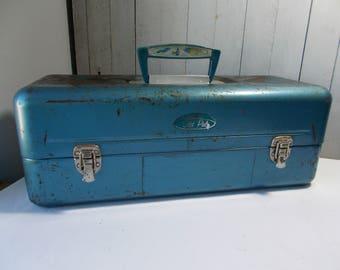 Vintage Old Pal Metal Tackle Box