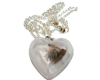 Heart Box with Bee Necklace