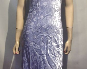MERMAID Vintage New Old Stock 1990's SATIN Bias Cut LILAC Cocktail Dress