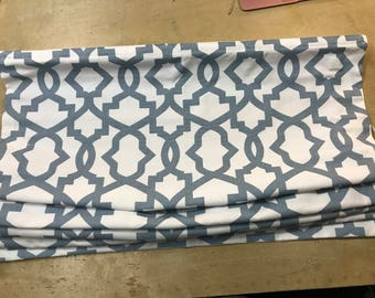 Clearance Roman Shade in Premier Prints Sheffield Arctic Blue
