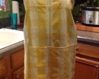 Japanese style apron, Medium/Large Apron, cross back apron, pinafore, smock, jumper