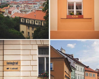 Colors of Prague - Four Prints, Prague, Europe, travel, wall art, room decor
