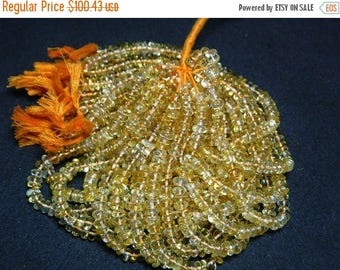 ON SALE 55% Citrine Beads, 8mm Rondelles, Smooth Rondelles, 10 Inch Strand,60 Pieces Approx