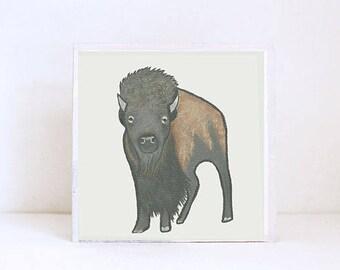 buffalo southwestern nursery art -buffalo wall art- animal prints- gender neutral baby-boho southwest nursery- bison, redtilestudio