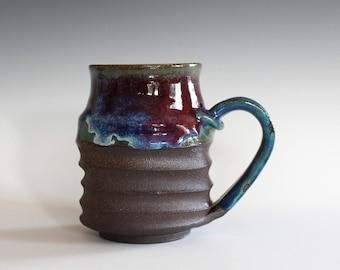 Pottery Coffee Mug, 16 oz, handmade ceramic cup, handthrown mug, stoneware mug, pottery mug, unique coffee mug, ceramics and pottery
