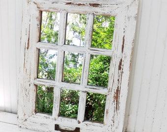 wall decorations living room. White Rustic Mirror Farmhouse Home Decor Wall  mirror Etsy
