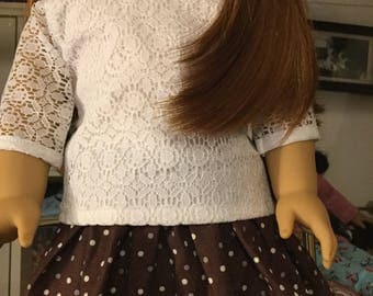 Dressy casual skirt and top set for 18inch dolls