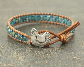 Turquoise Chicken Bracelet Colorful Bohemian Chicken Jewelry