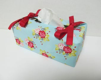 Tissue Box Cover/Red And Pink Rose