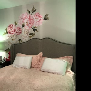 floral tapete wandbild aquarell pfingstrose gro e selbst. Black Bedroom Furniture Sets. Home Design Ideas