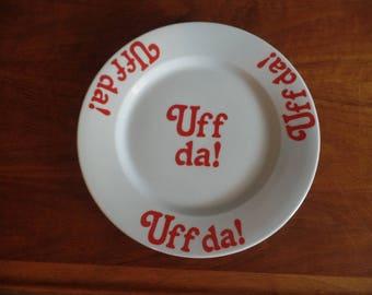 Norwegian Uff Da Plate Bergquist