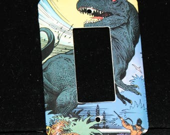 Ray Bradbury Comic Dinosaurs Decora Toggle Switch Plate Outlet Wallplate Light Cover