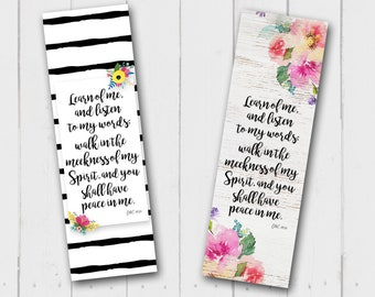 """Bookmark for the 2018 LDS mutual theme """"Peace in me"""" Instant Download"""