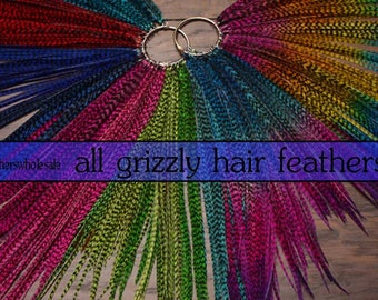 Hair Feathers 100 Feather Hair Extensions Long Real Grizzly Feathers Striped Feathers Bulk Feather Extensions Wholesale Feathers