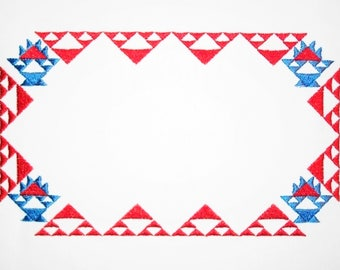 Amish baskets embroidered quilt label to customize with your personal message
