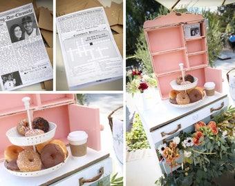 Brunch Wedding Program - The Original Mini Newspaper Wedding Program