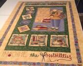 Fabric Panel - Creative Woman Design by Debbie Mumm - Quiltsy Destash
