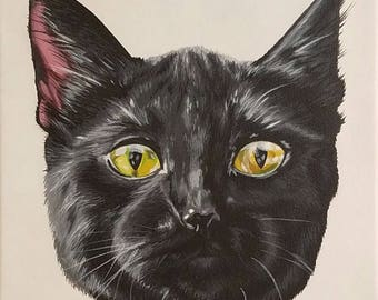 Custom Cat painting Pet potrait