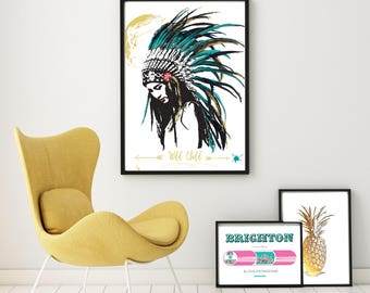 Wild Child & Hope print by Charlie Doodle