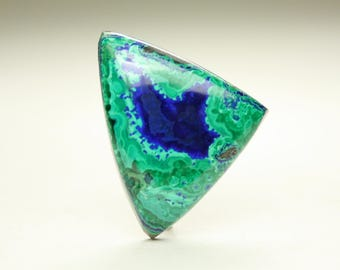 Elegant Morenci Azurite Malachite Designer Cabochon with Blues and Greens, Ideal for Jewelry Design