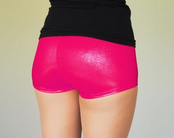 Shiny Pink Roller Derby Shorts
