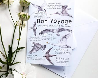 Bon Voyage, a card for a traveller