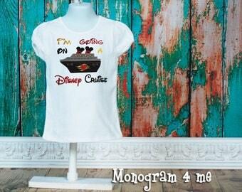Girls Disney Cruise,  I'm going on a Cruise Shirt,  Ship, Minnie Mouse Shirt