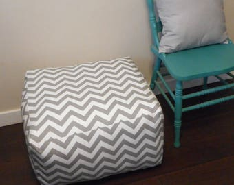 RESERVED set of Square Poufs in Grey Gotcha