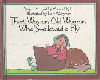 Vintage There Was an Old Woman Who Swallowed a Fly Children's Book, C1981