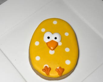 Easter Egg Chick Sugar Cookies