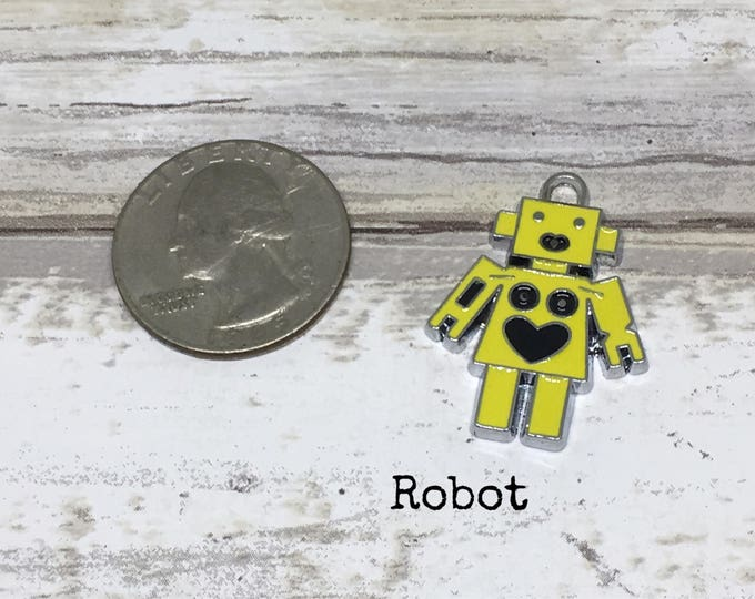 Robot charm necklace