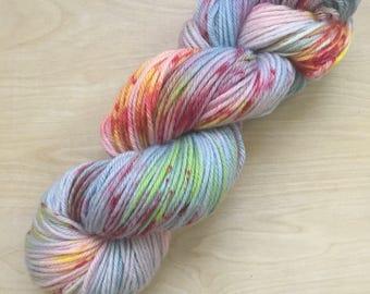Elizabeth colorway superwash merino worsted weight yarn