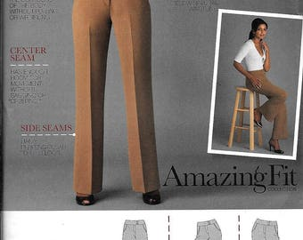 Simplicity 2700 Misses Pants In Curvy Slim or Average Variations Sewing Pattern UNCUT Size 6, 8, 10, 12, 14