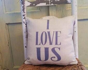 Anniversary pillow, Wedding pillow, Farmhouse decor