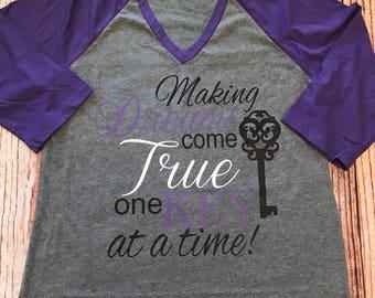Raglan Baseball Shirt- makeing dreams come true- Custom Real estate Shirt- Home of your Dreams Shirt- Realtor shirt- Real estate Shirt-