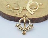 Anchor Bead Cage-5pcs 20x24mm Gold Plated  Alloy Essential Oil Diffuser Pendant Perfume Locket Hollow Pearl Bead Cage Pendant C8498