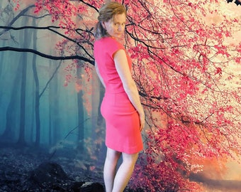 60's Spring Bright Pink Zephyr Wool 3 Piece Suit