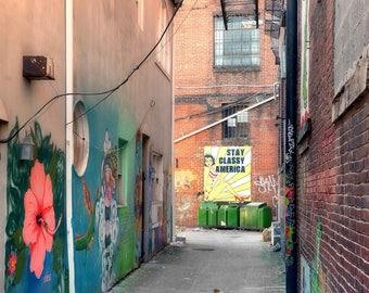 photography, urban photography, color photography, city photography, downtown  photography, Knoxville, alley, cityscape