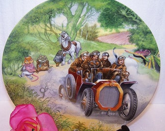 Wedgwood Wind in the Willows Poop-Poop! - Eric Kincaid - Bone China Plate -  Wind in the Willows Decorative Plate