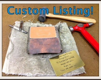 Custom for Rachel