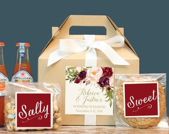 Set Of 6 Fall Out Town Guest Box Wedding Welcome