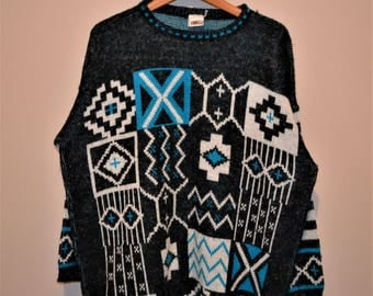 Vintage Sweater Forelli Oversize Aztec