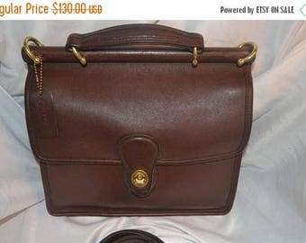 On Sale Vintage Coach~Coach Bag~ Coach Willis  9927~ Brown  Excellent Condition Brass Hardware Fits Ipad Perfect