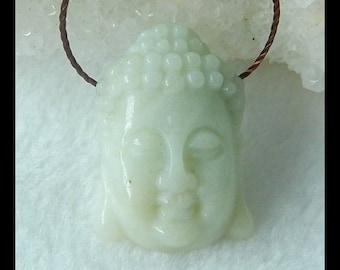Carved Amazonite Buddha Head Pendant Bead,Small Buddha Head Pendant,24x16x7mm,4.0g(f0876)