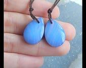 Mood Earring - Double Surface Boulder Opal,Opalite Intarsia Gemstone Earring Bead,19x13x5mm,3.8g