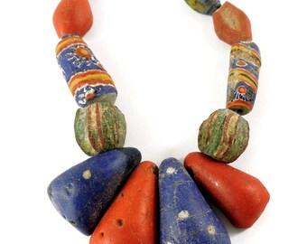 12 Kiffa Powder Glass Beads Old Mauritanian Africa Loose 105088