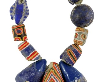 11 Kiffa Powder Glass Beads Old Mauritanian Africa Loose 105586