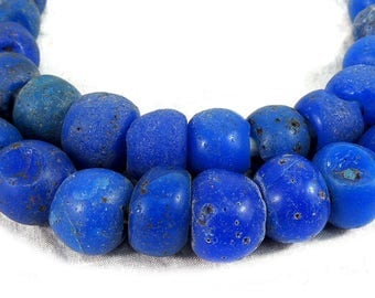 Trade Beads Old European Wound Blue African 80533