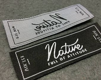 woven labels, woven label, basic name labels, custom woven labels, clothing labels, only USD17 ships in 1 week