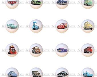 Set Of 16 Disney Cars Lightning McQueen Mater Ceramic Drawer Pull Cabinet  Knobs